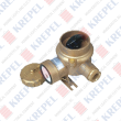 Brass socket with switch for marine applications, 3P, 125V, 16A