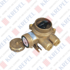 Brass socket with switch for marine applications, 3P, 250V, 16A