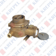 Brass socket with switch for marine applications, 4P, 380/440V, 32A, one cable gland - left